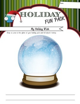 My Holiday Wish - A Magical Snow Globe for your Students' Holiday Wish