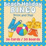 Summer Beach Holiday BINGO & Memory Matching Card Game Activity