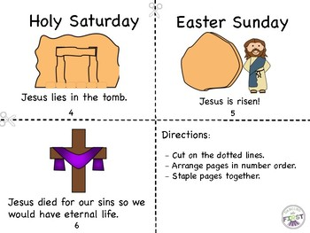 Lent/Holy Week Mini Book and Easter Coloring Page