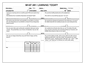 My Home (Orange) Week  Daily Lesson Plans and Vocabulary