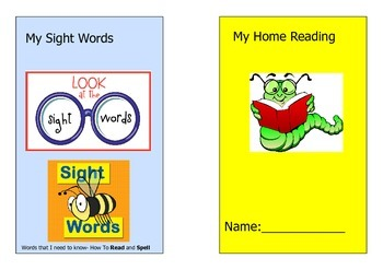 My Home Reading and Sight Word Cover