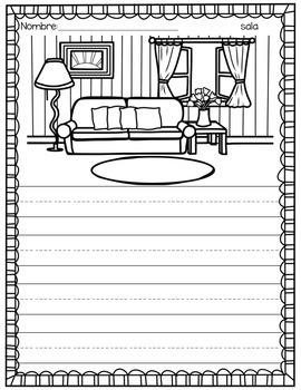 My Home Writing Journal - Spanish