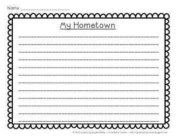 My Hometown a Research and Guided Writing Project for Elementary Grades