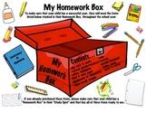 My Homework Box and Study Spot...Getting a Head Start Towa