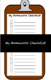 My Homework Checklist