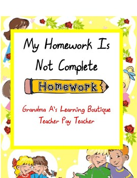 My Homework Is Not Complete