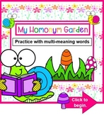 My Homonym Garden - A Lesson in Multi-Meaning Word Lesson