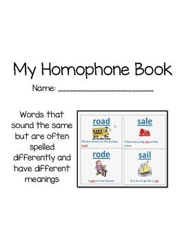My Homophone Book