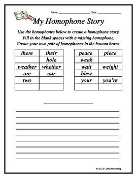 My Homophone Story