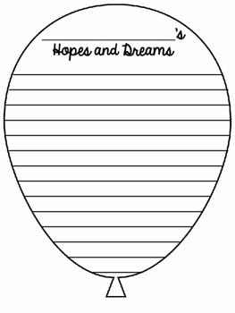 My Hopes and Dreams {Beginning of Year Writing Craftivity}
