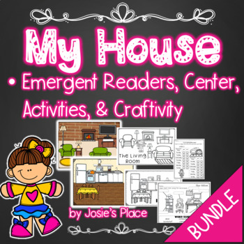 My House Emergent Readers, Activities, Center, and Craftivity