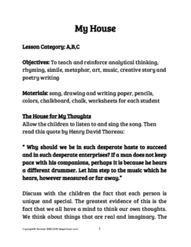 My House Lessons (Explore Unique Learning Through Imagination & A Song!)