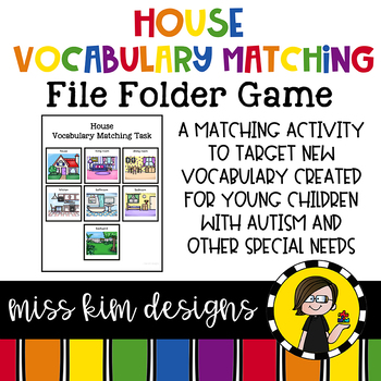 My House Vocabulary Folder Game for Special Education