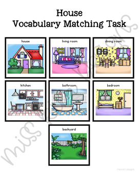 My House Vocabulary Folder Game for Students with Autism & Special Needs