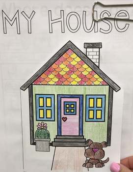 My House, activity pack for ESL cycle one