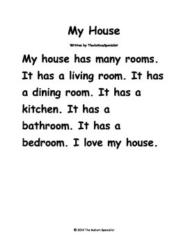 My House/My Apartment Create-A-Sentence