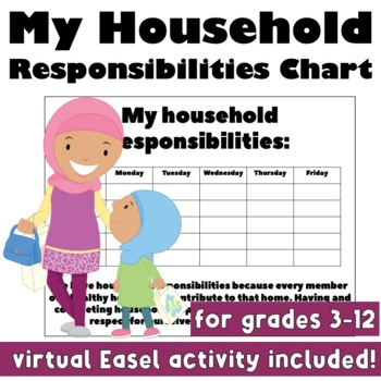 My Household Chore Chart: Life Skills for General and Special Education