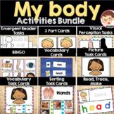My Body Activities Resources Bundle Preschool Pre-K Prekindergarten