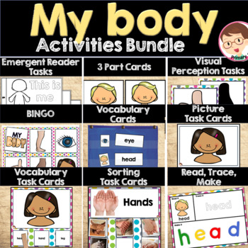 My Body Activities Resources Bundle Preschool Pre-K Prekindergarten