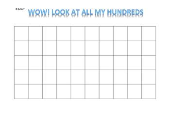 My Hundred Hundreds Book (Blue Words)