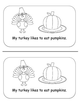 My Hungry Turkey- Thanksgiving Emergent Reader *Freebie*