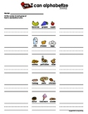My I Can Alphabetize - Food (Alphabetical Order Practice Sheet)