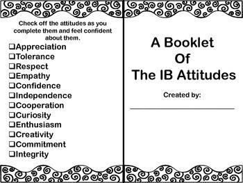 My IB Attitudes Interactive Booklet A Week Long Focus Activtiy