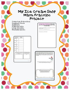 Math Project: My Ice Cream Shop