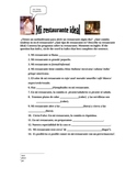 My Ideal Restaurant Spanish activity. Made for Expresate t