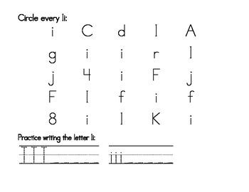 My Ii Book {letter study / sight words it, it}