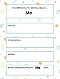 My Important Book Printable Book