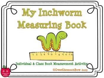 My Inchworm Measurement Book - Non-Standard Measurement Activity