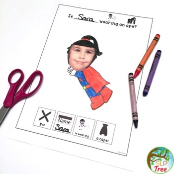 My Initial Consonant Deletion Book: Minimal Pairs Carryover Activity