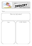 My Inquiry Big Question - research template