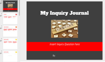 My Inquiry Journey - An editable online reflection on the guided inquiry process