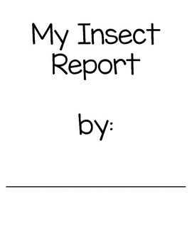 My Insect Report- Mini Book and Report Pages for Shared Research