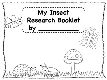 My Insect Research Booklet