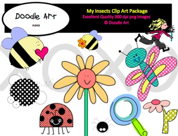 My Insects Clipart Pack