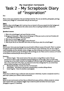 My Inspiration Homework - Editable