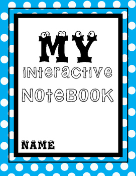 My Interactive Notebook Cover