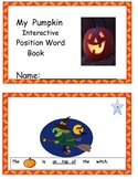 My Interactive Pumpkin Position Word Book