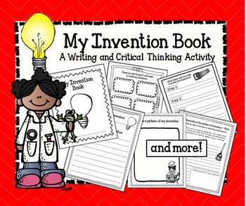 My Invention Book-  A Write and Draw Activity Book