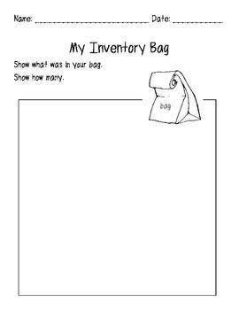 My Inventory Bag Worksheet