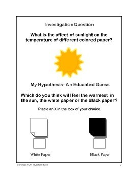 My Investigation On Solar Warmth:  Experiment On The Sun with K/1st Grade