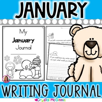 My January Journal (winter themed cover, writing prompts, and blank pages)