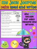 My Jelly Journal - Daily Journal to Practice Reading and W