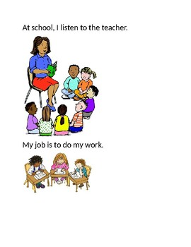 My Job at School- Social Story (Editable)