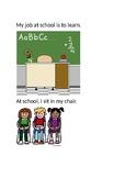 My Job at School- Social Story (Editable)