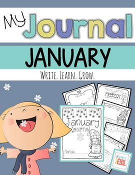 My Journal: JANUARY Winter Themed Writing Prompts {Common