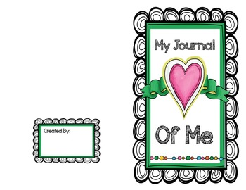 My Journal Of Me (self-esteem journal)
